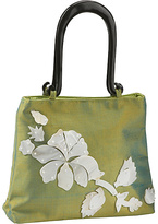 Global Elements Floral Mother of Pearl on Silk Handbag