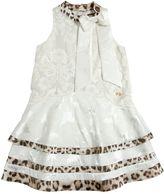 Roberto Cavalli Viscose & Silk Georgette Jacquard Dress
