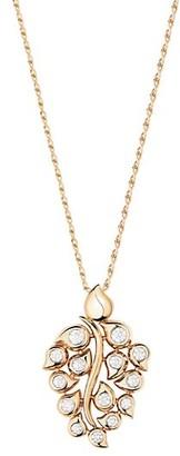 Tamara Comolli Snowflake Classic 18K Rose Gold & Diamond Leaf Pendant