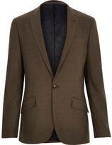 River Island Brown Tailored Slim Suit Jacket