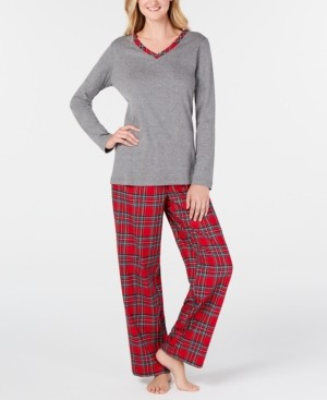 Charter Club Plaid Mix It Pajamas Set, Created for Macy's