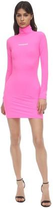 Vetements Logo Print Lycra Mini Dress