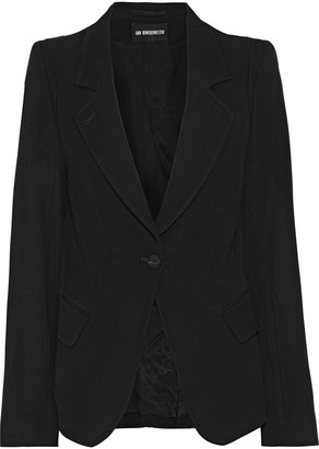 Ann Demeulemeester Wool And Cotton-blend Twill Blazer