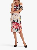 Thumbnail for your product : Gina Bacconi Amber Floral Print Scuba Dress, Multi