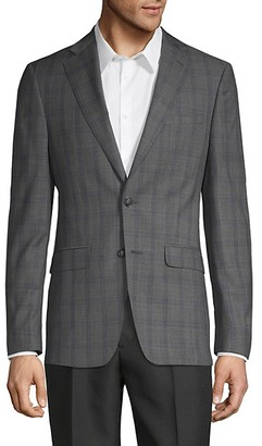 Calvin Klein Windowpane Wool-Blend Jacket