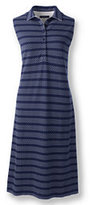 Classic Women's Petite Sleeveless Polo Dress-Cameo Blush Dots