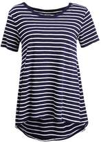 Gap SLUB STRIPE PLEAT Print Tshirt navy stripe