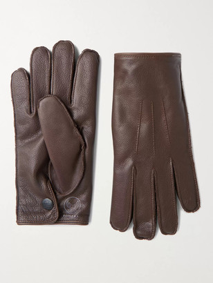 Ralph Lauren RRL Cashmere-Lined Leather Gloves