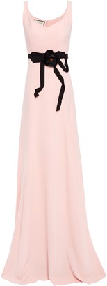 Gucci Floral-appliqued Crepe Gown