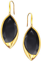 Lana 14k Jet Black Marquise Earrings