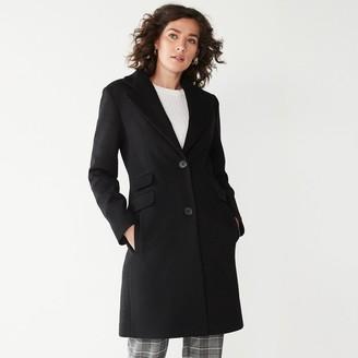 Nine West Women's Single-Breasted Wool Blend Coat