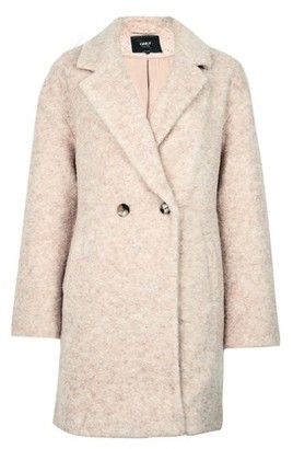 Dorothy Perkins Womens **Only Blush Wool Button Coat