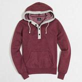 J.Crew Factory Tall fleece henley hoodie