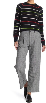 Ganni High Rise Check Light Suiting Trousers