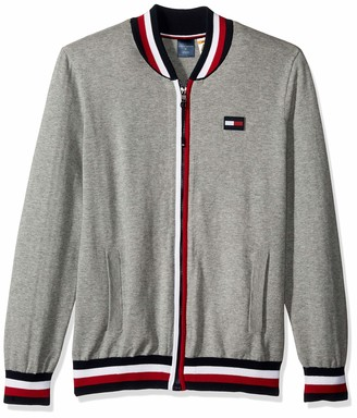 Tommy Hilfiger Men's Adaptive Baseball Sweater with Magnetic Zipper