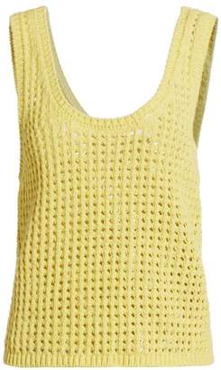Nanushka Tula Crochet Knit Tank Top