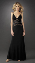 La Femme Double Strap Sleeveless Sheath Evening Dress 13057