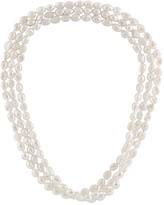 """Splendid Pearls White 8-9mm Cultured Freshwater Pearl Endless 64"""" Strand Necklace"""