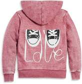 Vintage Havana Girls' Rhinestone-Heart Fleece Hoodie