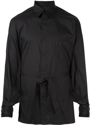 Fumito Ganryu Tie-Waist Fitted Shirt