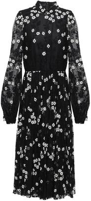 Giambattista Valli Gathered Embroidered Lace Midi Dress