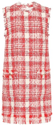 MSGM Plaid cotton-blend dress