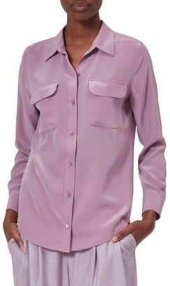 Equipment Slim Signature Pocket Silk Shirt