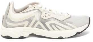 Acne Studios Panelled Suede And Mesh Trainers - Grey White