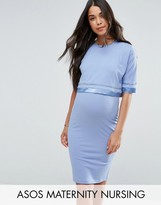 ASOS Maternity - Nursing ASOS Maternity NURSING Double Layer Dress with Satin Trim