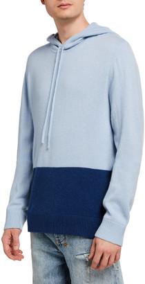 Onia Men's Jamie Colorblock Cashmere Hoodie Sweater