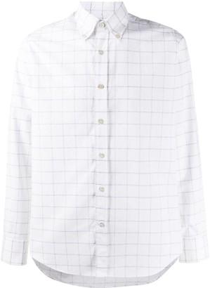 Canali Checked Cotton Shirt
