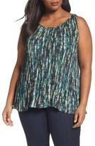 Sejour Plus Size Women's Pleat Shell