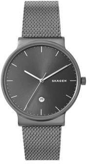 Skagen Ancher Titanium and Stainless Steel-Mesh Bracelet Watch