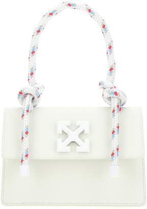 Off-White Off White Foldover Top Handle Tote Bag