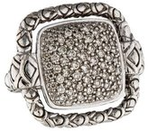 John Hardy Square Pavé Diamond Ring