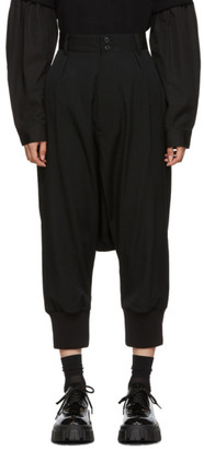 Yohji Yamamoto Regulation Black Sarouel Trousers