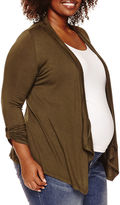 Asstd National Brand Maternity 3/4-Sleeve Open Cardigan - Plus