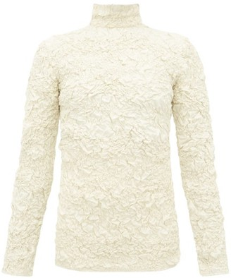 Lemaire Popcorn High Neck Matelasse Top - Womens - Cream
