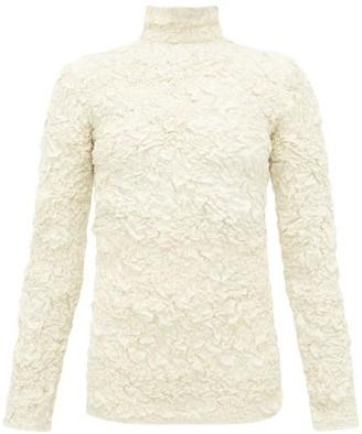 Lemaire Popcorn High-neck Matelasse Top - Womens - Cream