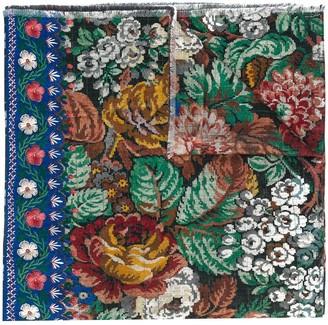 Pierre Louis Mascia Floral-Print Wool Scarf