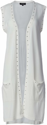 Colourworks Colour Works Women's Vest with Stud Trim and High Side Slits