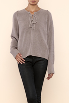 Do & Be Do-Be Lace-Up Box Sweater