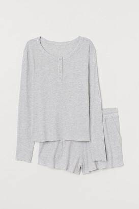 H&M Pajama Top and Shorts