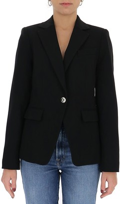 MICHAEL Michael Kors Crepe Single-Breasted Blazer