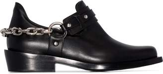 Paco Rabanne chain-trimmed ankle boots