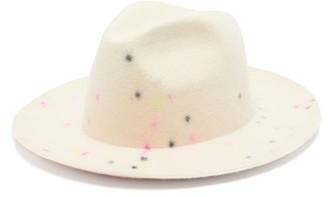 Bonica Reinhard Plank Hats Flecked Wool-felt Fedora - Womens - White Multi