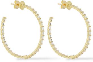 Amrapali 18-karat Gold Sapphire Hoop Earrings