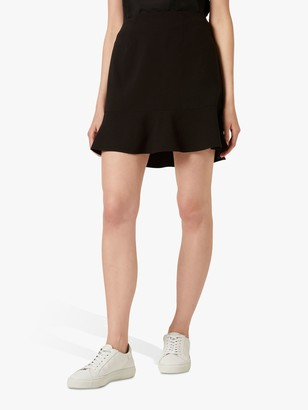 French Connection Dorotea Flared Mini Skirt, Black