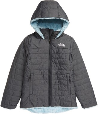 The North Face Kids' Mossbud Swirl Reversible Water Repellent Hooded Jacket