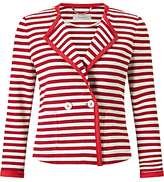 Marella Este Stripe Jacket, Ruby